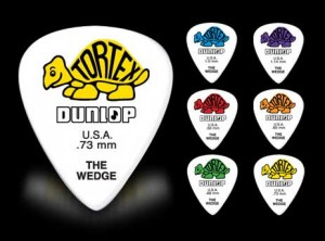 Jim Dunlop Wedge Picks (2pc) Choice Of Size Options