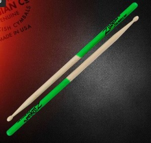 Zildjian 5A Maple Dip Wood Tip Drum Sticks 5AMG
