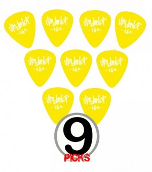 Dunlop Gel Standard x9 Yellow Guitar Picks (X-H) Extra Heavy
