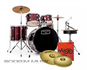 Mapex Tornado 3 Drum Kit Red TND5294FTC-DR With PAISTE Cymbals