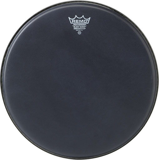 "Remo 15"" Ambassador Black Suede Drum Head BA-0815-ES"