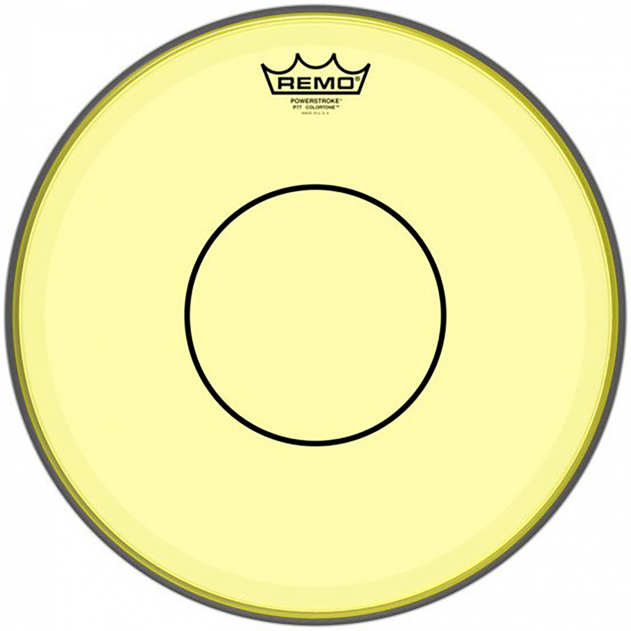 remo 13 powerstroke 77 colortone yellow snare drum head p7 0313 ct ye rockem music. Black Bedroom Furniture Sets. Home Design Ideas