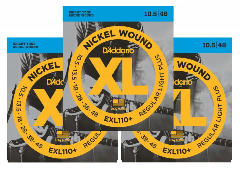 d 39 addario exl110 electric guitar strings multi pack offer rockem music. Black Bedroom Furniture Sets. Home Design Ideas