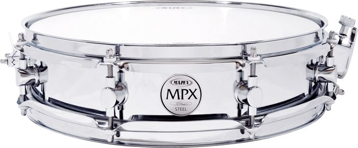 """Mapex 13"""" Chrome Steel Shell Snare Drum MPST3354"""