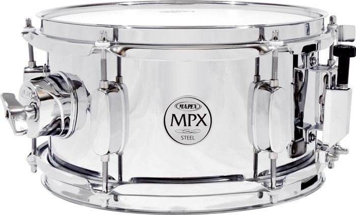 """Mapex 10"""" Chrome Steel Shell Snare Drum MPST0554"""