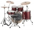Ludwig LCEE22025 Evolution Drum Kit w/Hardware, Wine Red