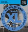 D'Addario EJ21 Nickel Wound, Jazz Light, Electric Guitar Strings 12-52