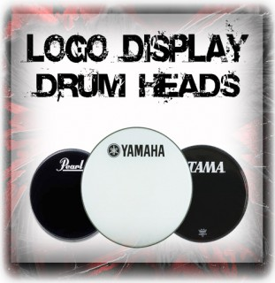Logo Bass Drum Display Drum Heads