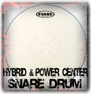 Evans Power Center & Hybrid Snare Drum Heads
