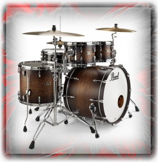 Pearl Wood Fiberglass Series Drum KIts