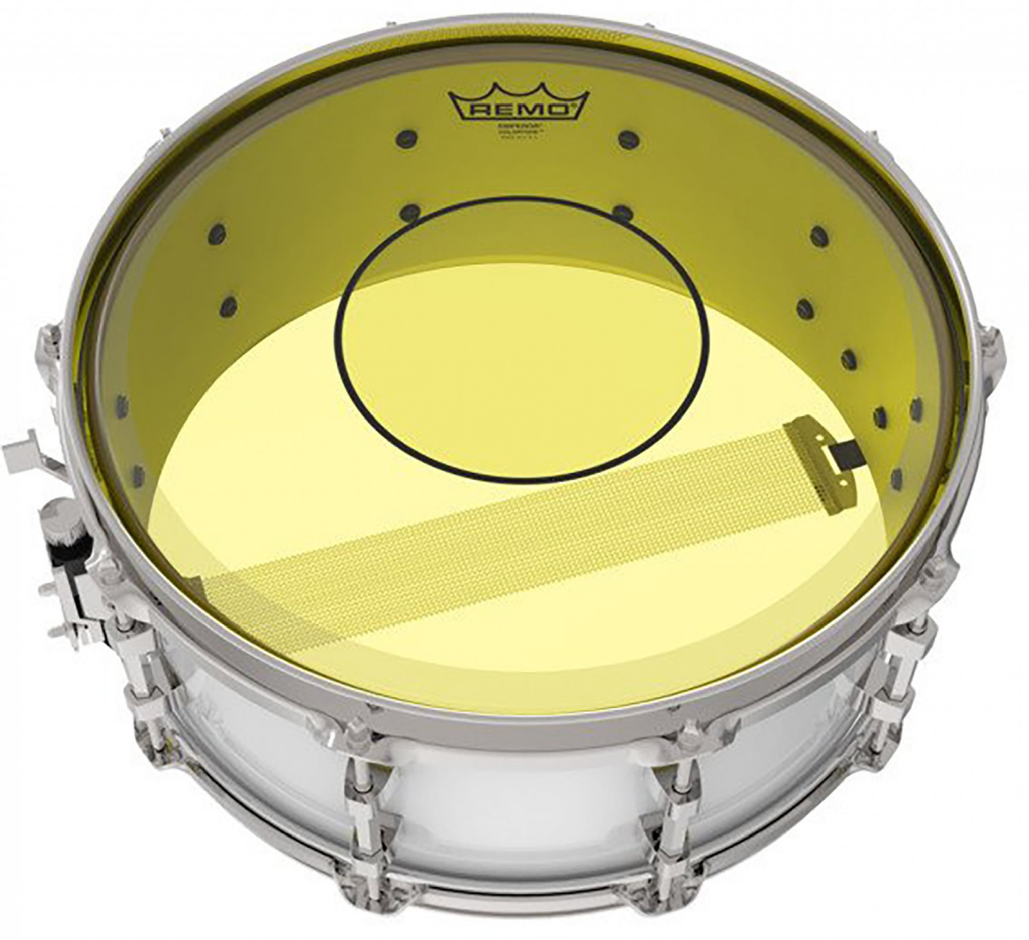 remo 14 powerstroke 77 colortone yellow snare drum head p7 0314 ct ye rockem music. Black Bedroom Furniture Sets. Home Design Ideas