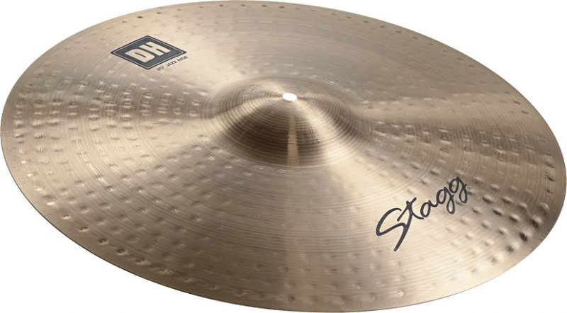 stagg 20 dh double hammered jazz ride cymbal dh rj20r rockem music. Black Bedroom Furniture Sets. Home Design Ideas
