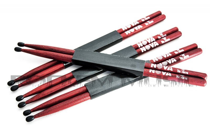 Vic Firth Nova 7A Wood Tip Drumsticks Red