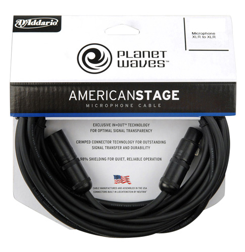 Planet Waves Pw Amsm 10 American Stage Microphone Cable