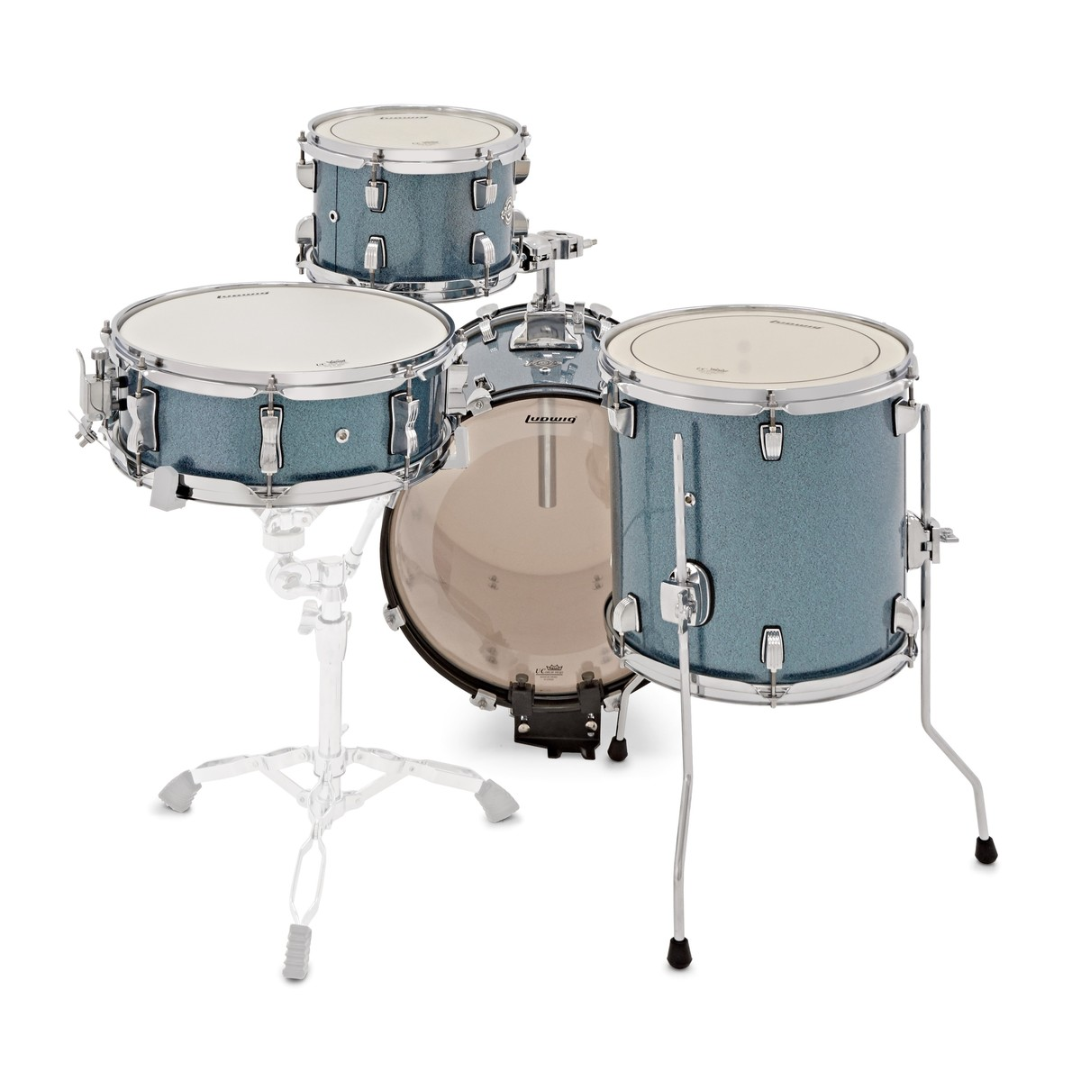 ludwig lc179x023 breakbeats azure blue sparkle drum kit shell pack rockem music. Black Bedroom Furniture Sets. Home Design Ideas